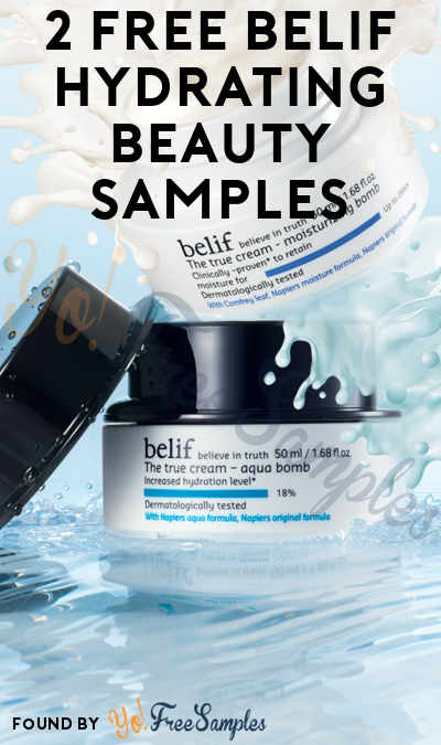 2 FREE Belif Hydrating Beauty Samples (Mobile Only) [Verified Received By Mail]