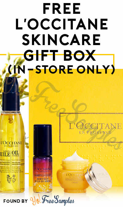 FREE L'Occitane Skincare Gift Box (In-Store Only)