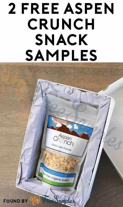 2 FREE Aspen Crunch Snack Samples