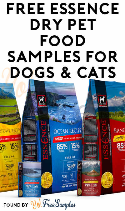 FREE Essence Dry Pet Food Samples For Dogs & Cats
