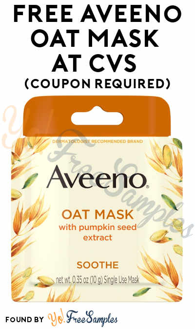 FREE Aveeno Oat Mask At CVS (Coupon Required)