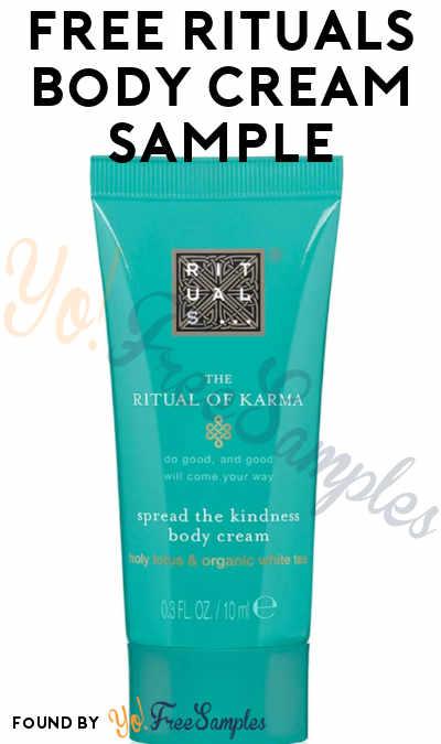 FREE Rituals Body Cream Sample