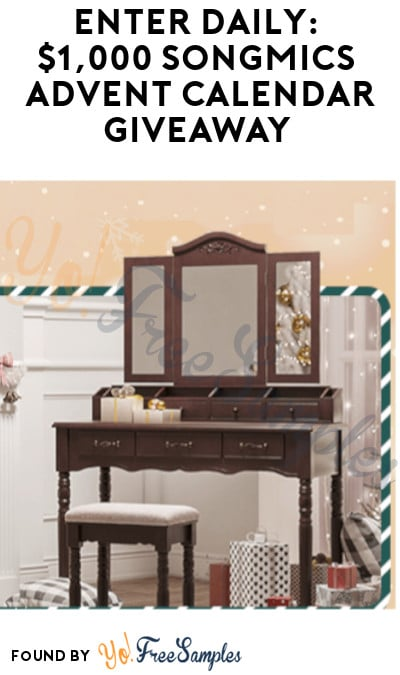 Enter Daily: $1,000 SONGMICS Advent Calendar Giveaway (35 Daily Prize + 1 Grand Prize)