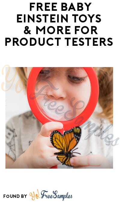 FREE Baby Einstein Toys & More for Product Testers (Must Apply + Email Required)