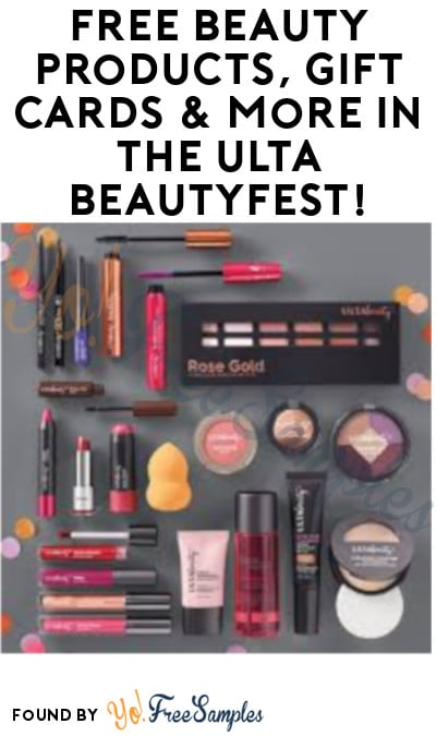 FREE Beauty Products, Gift Cards & More in the Ulta BeautyFest (11/16 and 11/17 Only)