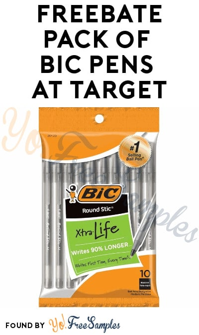 FREEBATE Pack of Bic Pens at Target (Target Circle Required)