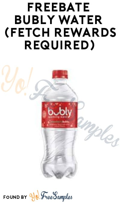 FREEBATE Bubly Water at Target (Fetch Rewards Required)
