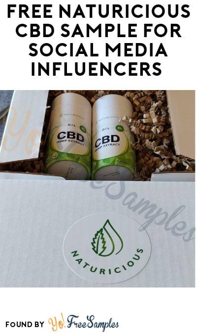 FREE Naturicious CBD Sample for Social Media Influencers