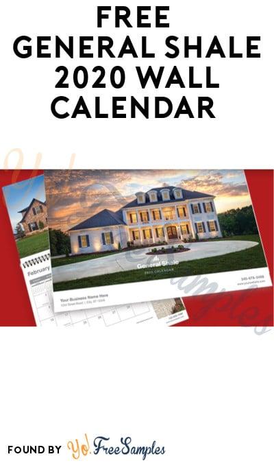 FREE General Shale 2020 Wall Calendar