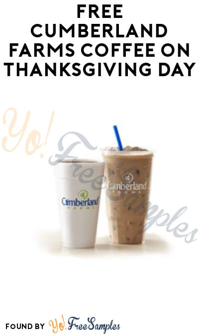 FREE Cumberland Farms Coffee on Thanksgiving Day