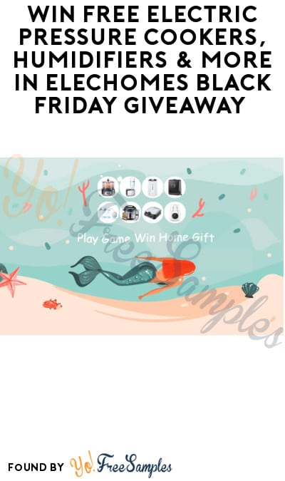 Win FREE Electric Pressure Cookers, Humidifiers & More in Elechomes Black Friday Giveaway