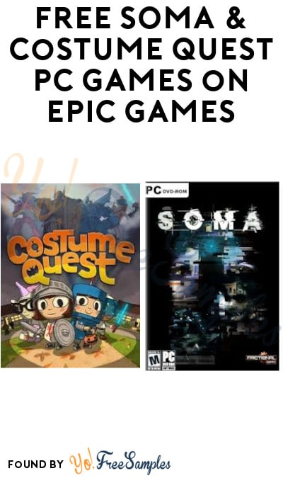 FREE SOMA & Costume Quest PC Games on Epic Games (Account Required)