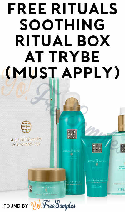 FREE Rituals Soothing Ritual Box At Trybe (Must Apply)