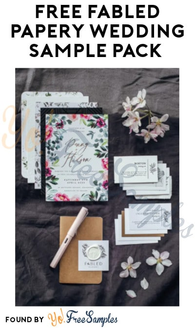 FREE Fabled Papery Wedding Sample Pack