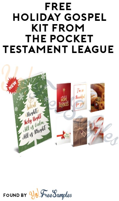 FREE Holiday Gospel Kit from The Pocket Testament League