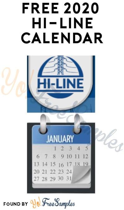 FREE 2020 Hi-Line Calendar