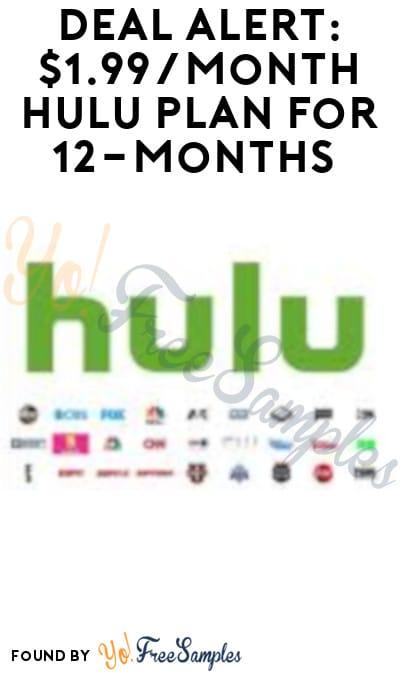 DEAL ALERT: $1.99/Month Hulu Plan for 12-Months