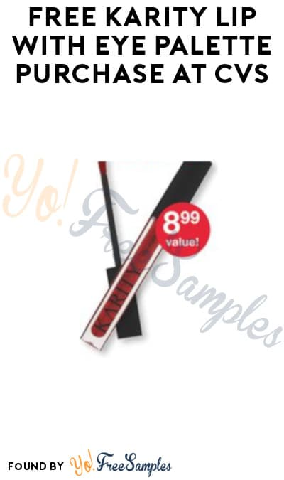 FREE Karity Lip with Eye Palette Purchase at CVS (In-Stores Only + Rewards Card Required)