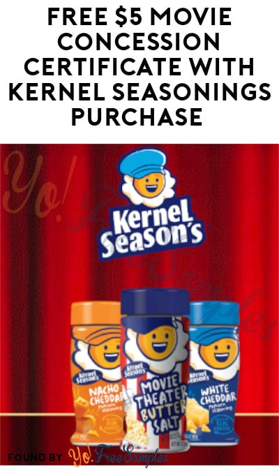 FREE $5 Movie Concession Certificate with Kernel Seasonings Purchase