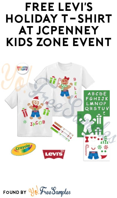 FREE Levi's Holiday T-Shirt at JCPenney Kids Zone Event