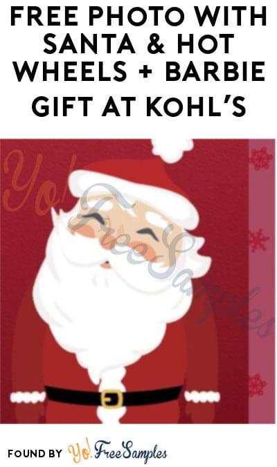 FREE Photo with Santa & Hot Wheels + Barbie Gift at Kohl's