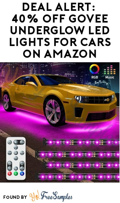 DEAL ALERT: 40% Off Govee Underglow LED Lights for Cars on Amazon (Code Required)