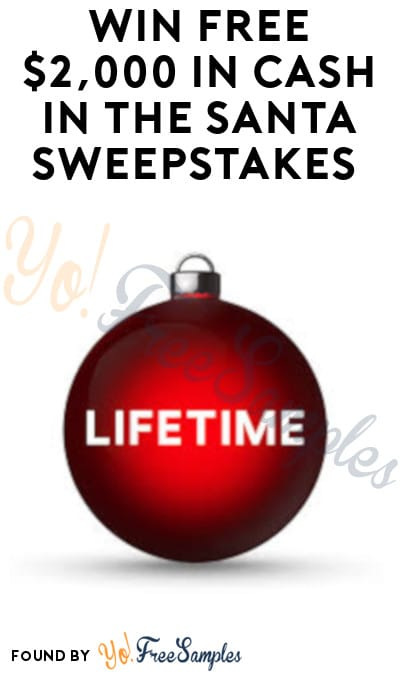 Win FREE $2,000 in Cash in The Santa Sweepstakes (Twitter or Instagram Required)