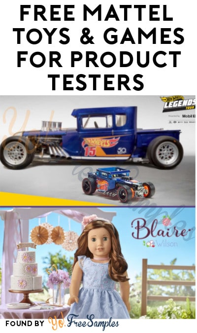 FREE Mattel Toys & Games for Product Testers (Must Apply)