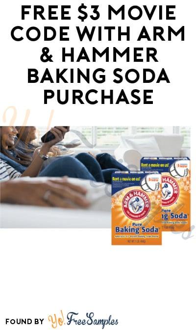 FREE $3 Movie Code with Arm & Hammer Baking Soda Purchase