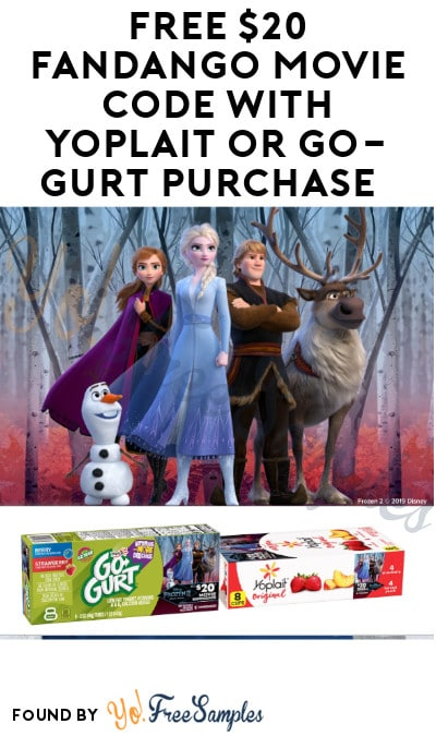 FREE $20 Fandango Movie + Snack Code with Yoplait or Go-GURT Purchase