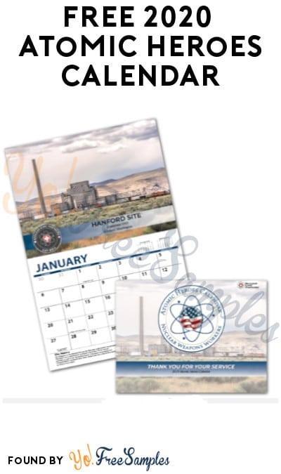 FREE 2020 Atomic Heroes Calendar