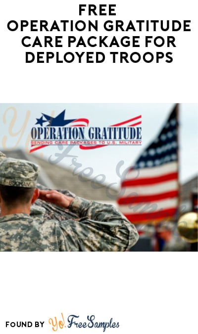FREE Operation Gratitude Care Package for Deployed Troops