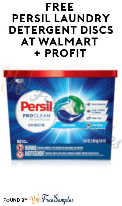 FREE Persil Laundry Detergent Discs at Walmart + Profit (Coupon & Ibotta Required)