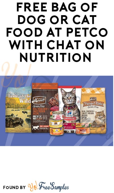 Back This Weekend Only (11/16 & 11/17): FREE Bag of Dog or Cat Food at Petco with Chat on Nutrition (In-Stores Only)