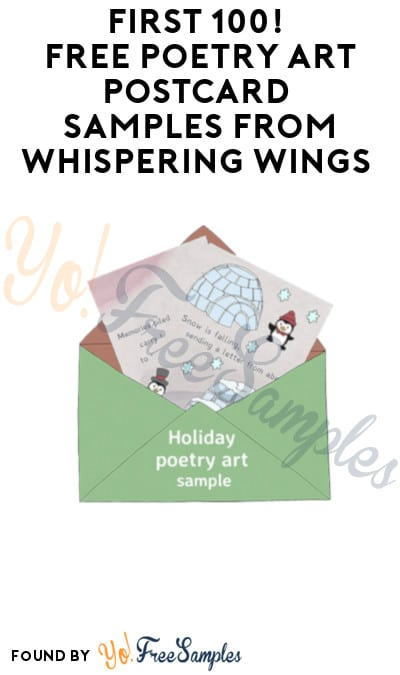 First 100! FREE Poetry Art Postcard Samples from Whispering Wings (Email Required)