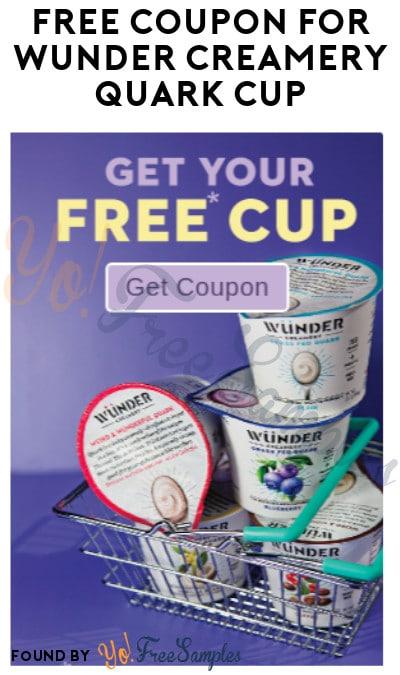 Working Again! FREE Wünder Creamery Quark Cup