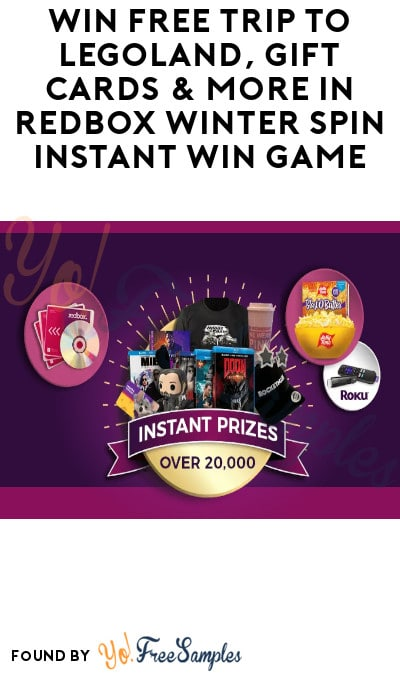 Enter Daily: Win FREE Trip to LEGOLAND, Gift Cards & More in Redbox Winter Spin Instant Win Game