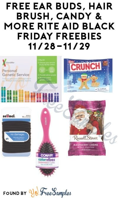 FREE Ear Buds, Hair Brush, Candy & More Rite Aid Thanksgiving Black Friday Freebies (In-Store Only)