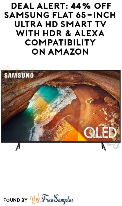 DEAL ALERT: 44% Off Samsung Flat 65-Inch Ultra HD Smart TV with HDR & Alexa Compatibility on Amazon