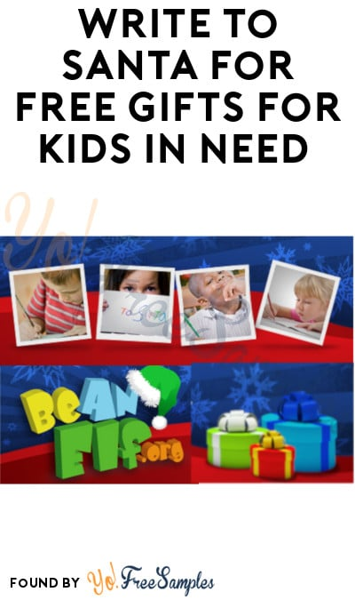 Write to Santa for FREE Gifts for Kids in Need