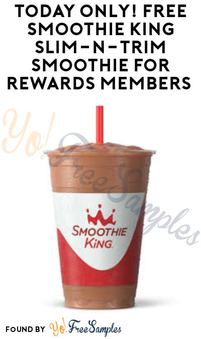 Today 11/5 Only! FREE Smoothie King Slim-N-Trim Smoothie for Rewards Members (2PM – 6PM)