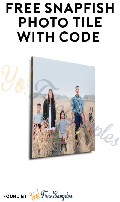 Nearly FREE Snapfish Photo Tile with Code (Shipping Costs Required)