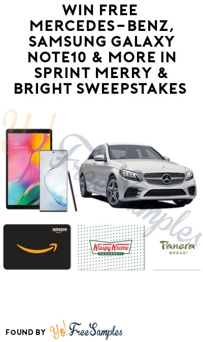Enter Daily: Win FREE Mercedes-Benz, Samsung Galaxy Note10 & More in Sprint Merry & Bright Sweepstakes
