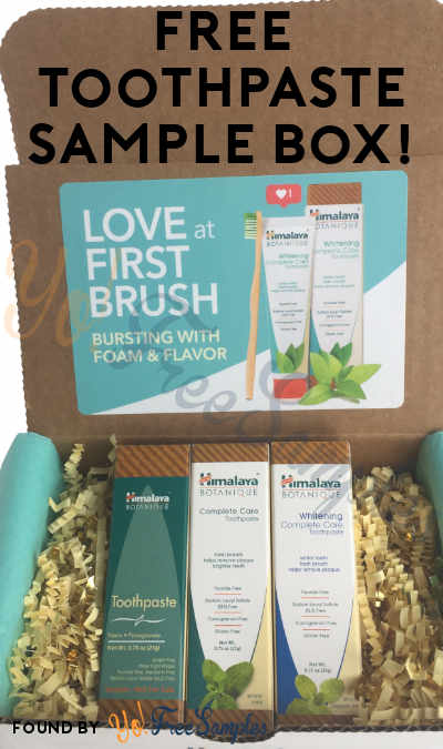 FREE Himalaya Botanique Toothpaste Sample Box