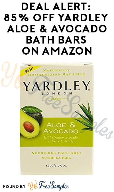 DEAL ALERT: 85% Off Yardley Aloe & Avocado Bath Bars on Amazon