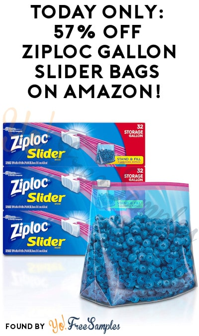 TODAY ONLY: 57% Off 3 Packs of Ziploc Gallon Slider Bags on Amazon!