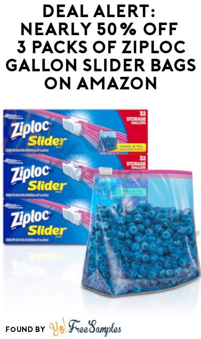 DEAL ALERT: Nearly 50% Off 3 Packs of Ziploc Gallon Slider Bags on Amazon (Clippable Coupon Required)
