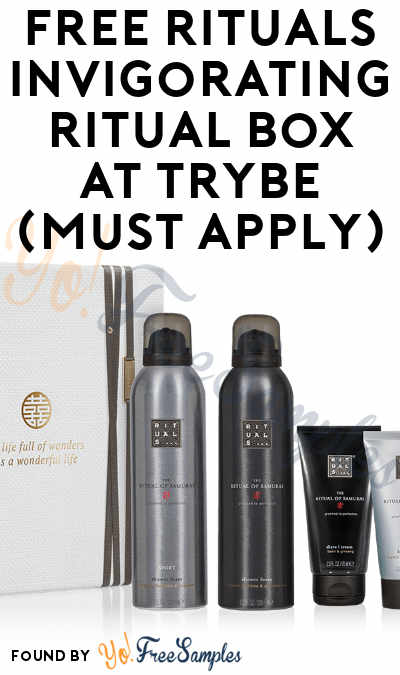 FREE Rituals Invigorating Ritual Box At Trybe (Must Apply)