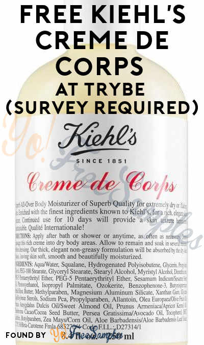 FREE Kiehl's Creme De Corps At Trybe (Must Apply)