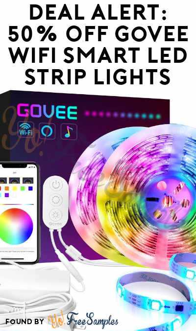 DEAL ALERT: 50% Off Govee WiFi Smart LED 32.8 Feet Strip Lights On Amazon